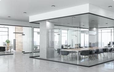 (image) intérieur agence vitree