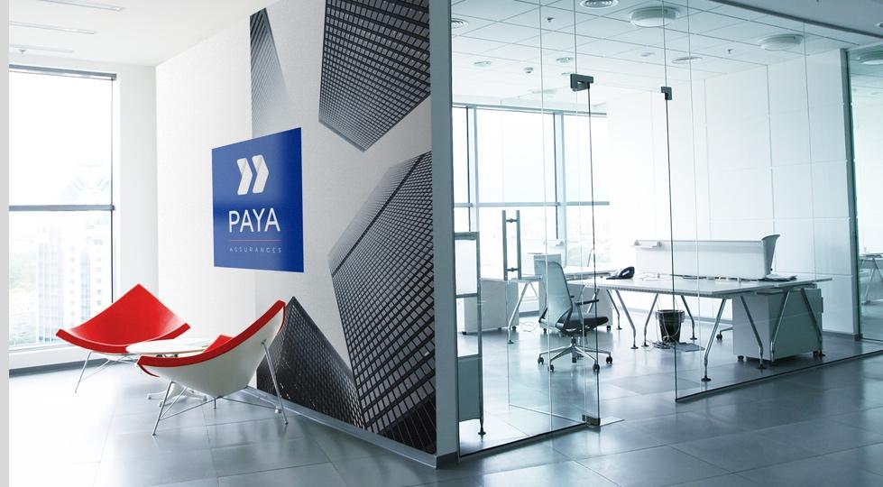 intérieur spacieux des bureaux Paya Assurances