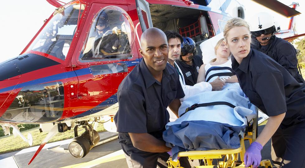 patient héliporté